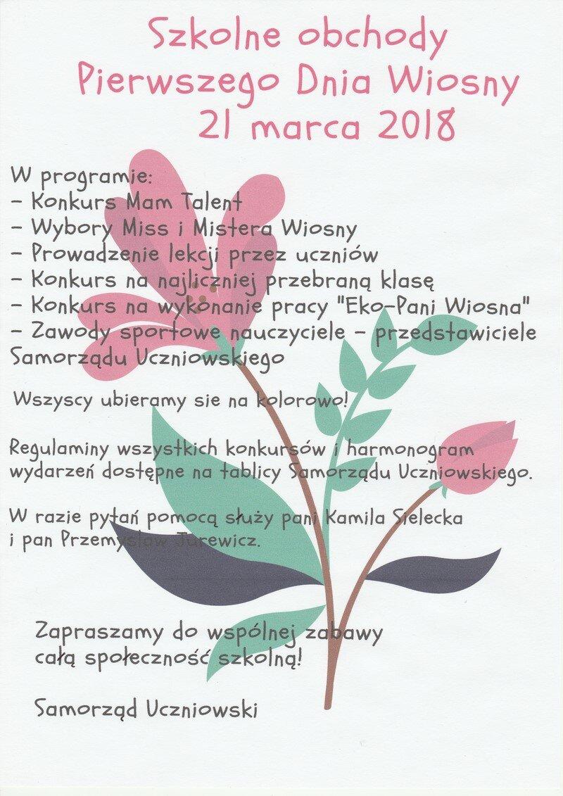 Zsp W Halinowie Dzień Wiosny Tuż Tuż